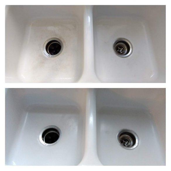 clean enamel sink