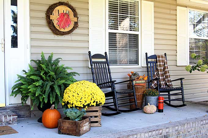 Fall front porch ideas the organized mom - Fall decorating ideas for front porch ...