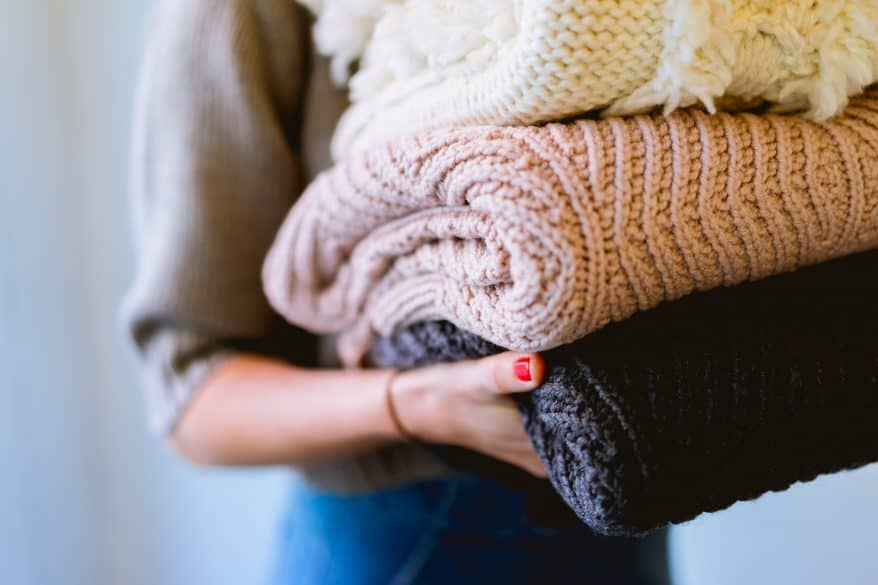 folded blankets