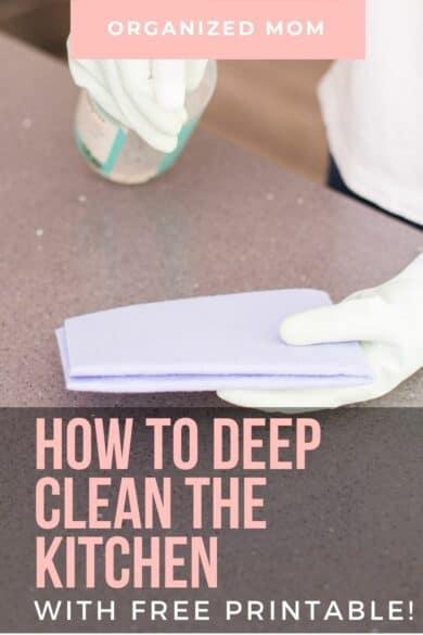 deep clean kitchen step by step