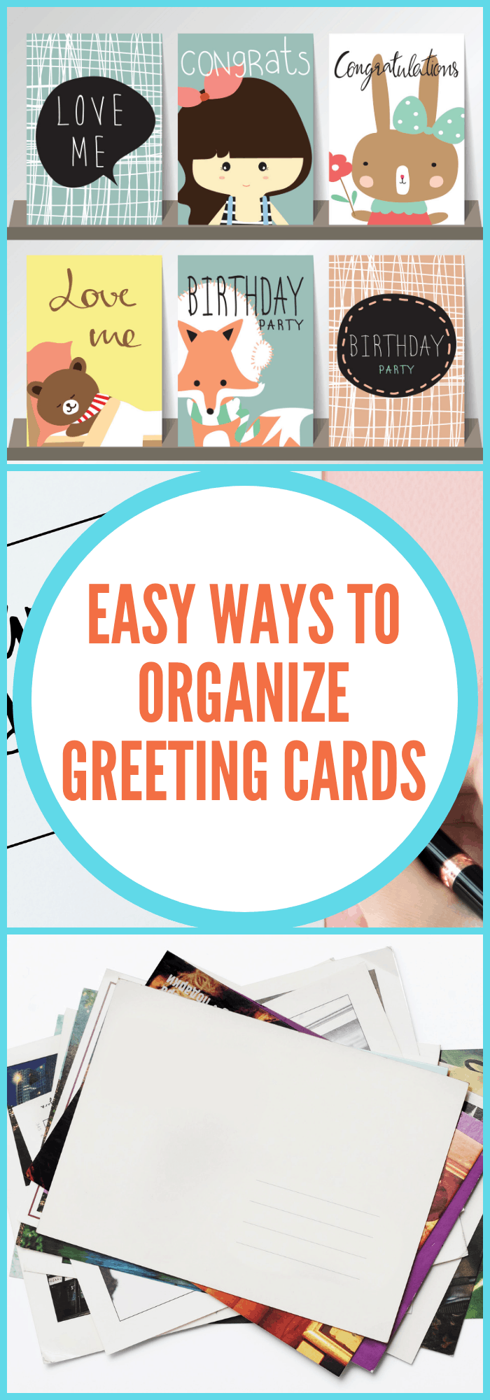 Easy Ways to Organize Greeting Cards