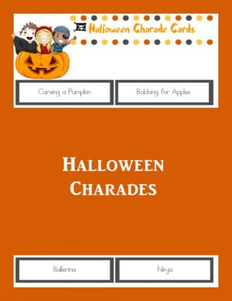 picture about Halloween Charades Printable titled Halloween Celebration Actions for Little ones - The Prepared Mother