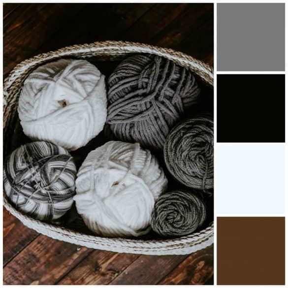 Gray, Black, White, Brown