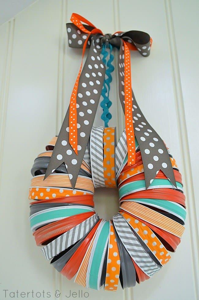 washi tape wreath