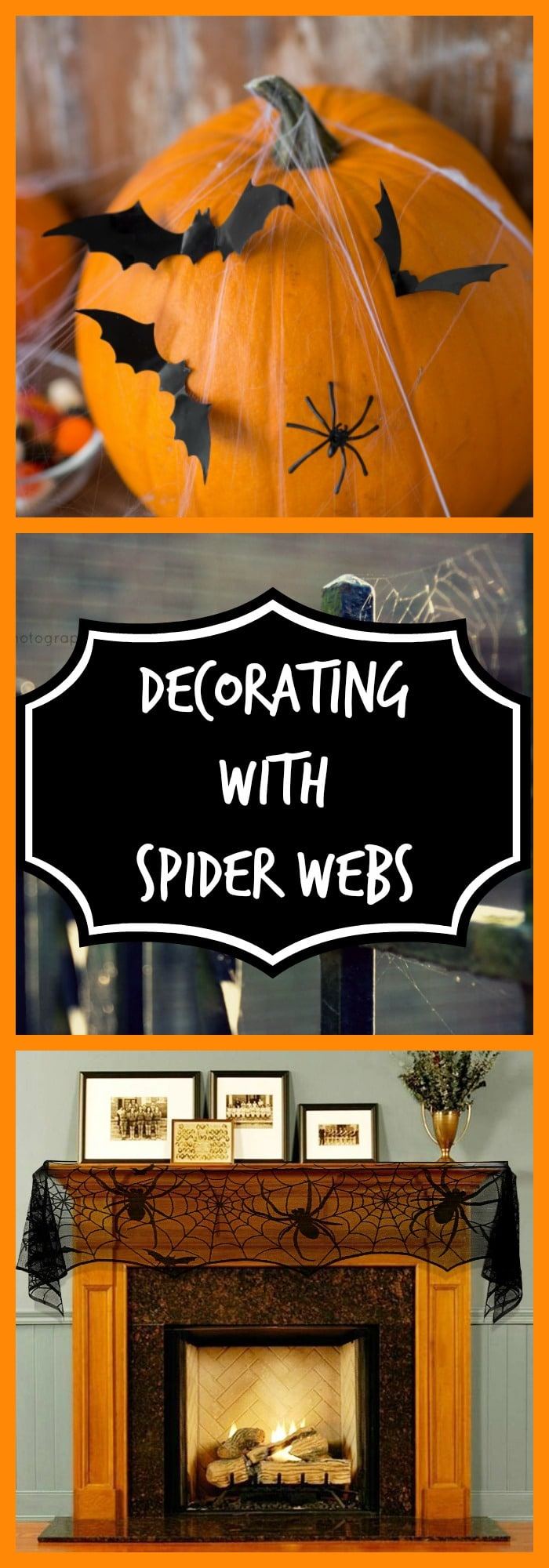 Decorating with Spider Webs
