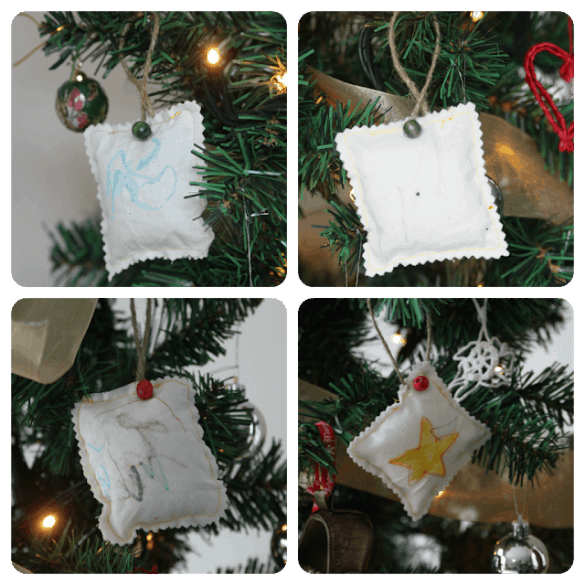 sew DIY ornaments for kids