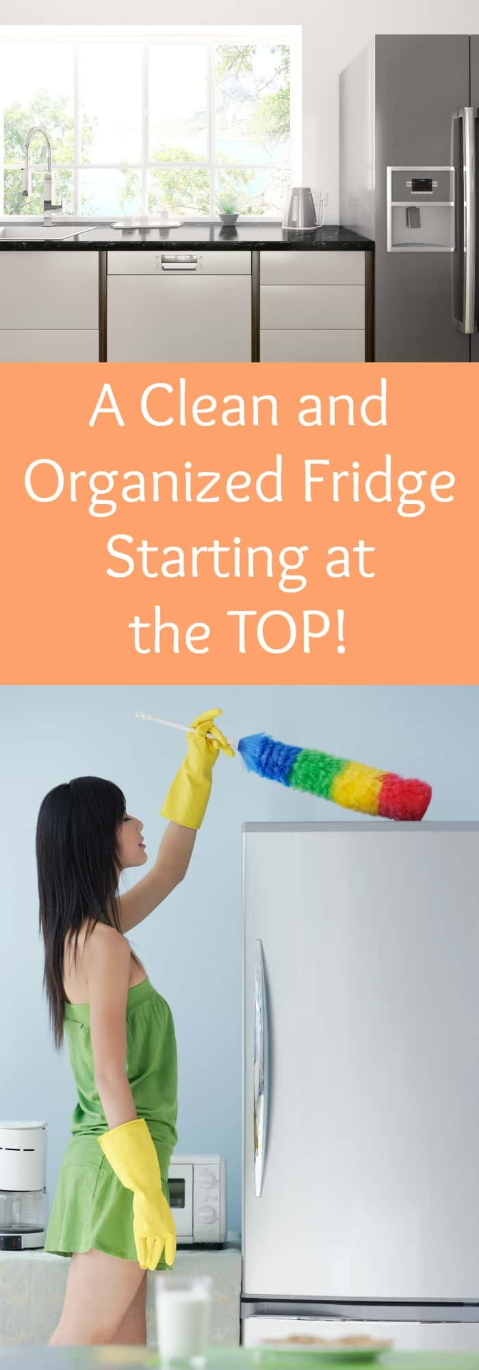 A Clean and Organized Fridge--Starting at the Top!