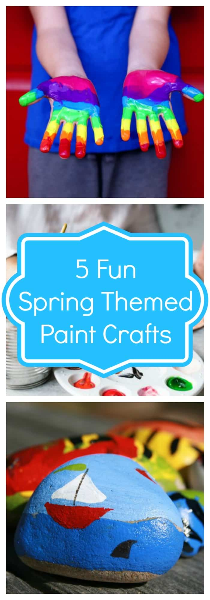 5 Fun Spring Themed Paint Crafts to Do With Kids