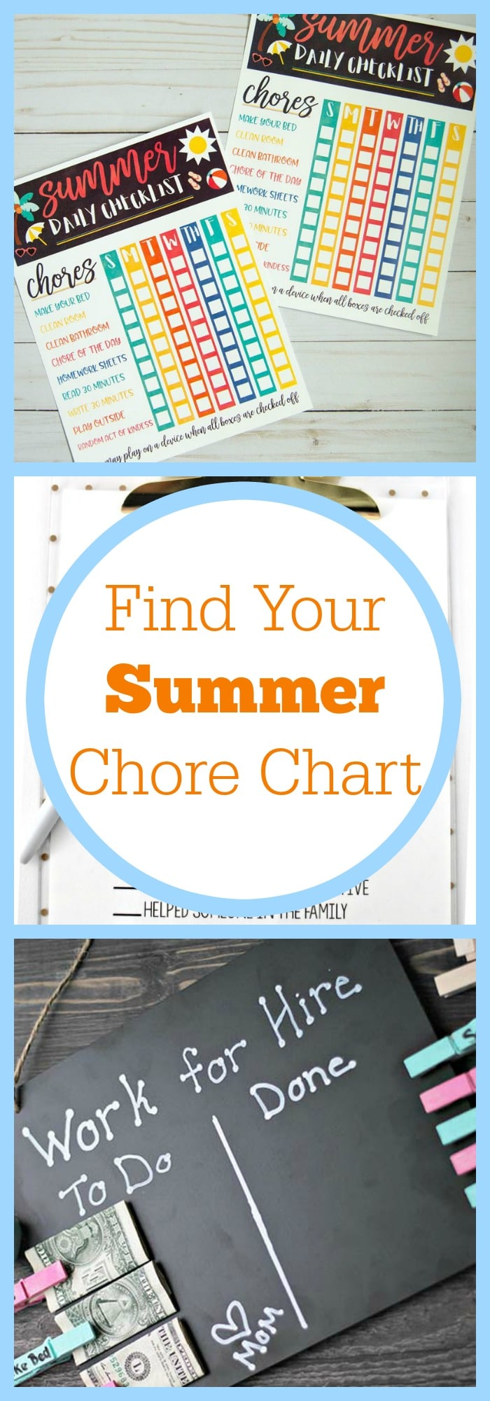Find Your Summer Chore Chart