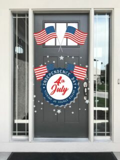 decorated front door 4th of July
