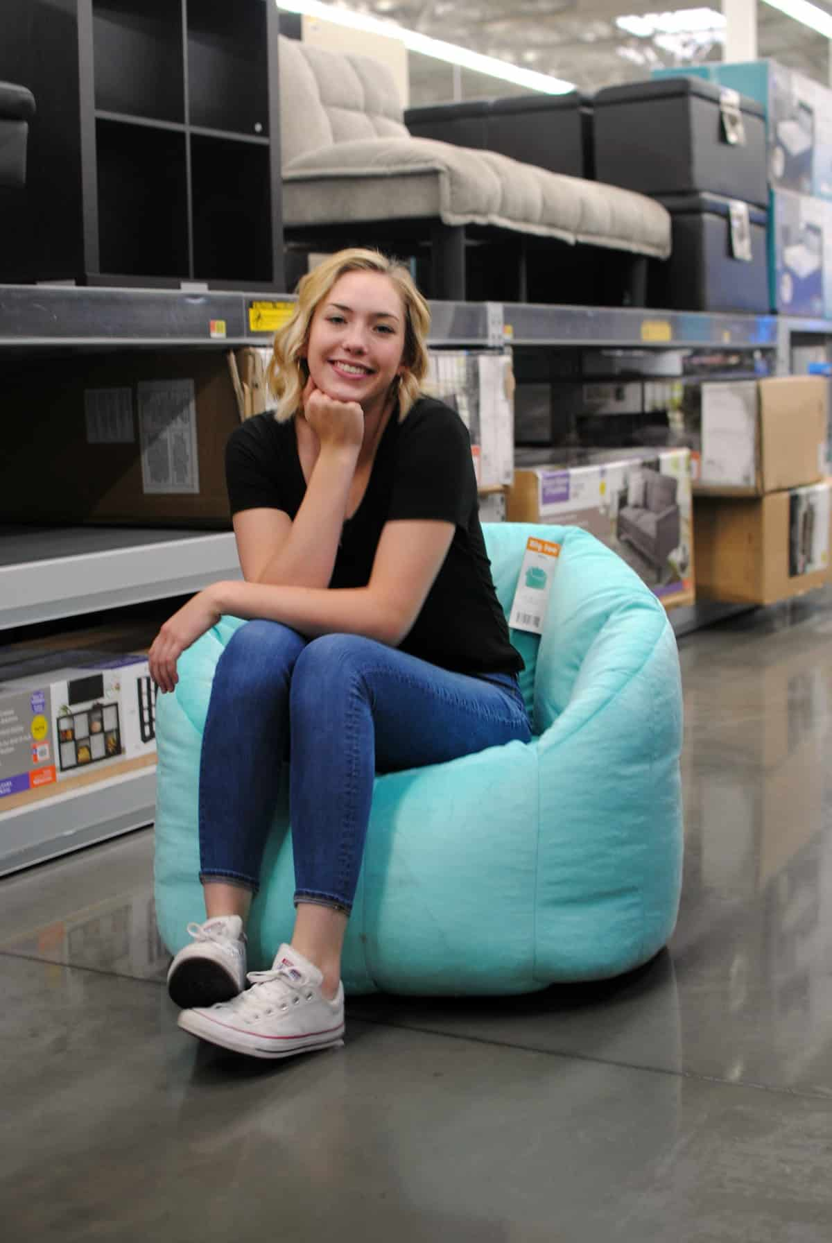 Big Joe Bean Bag chair from Walmart