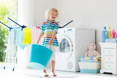 get kids to help sort laundry