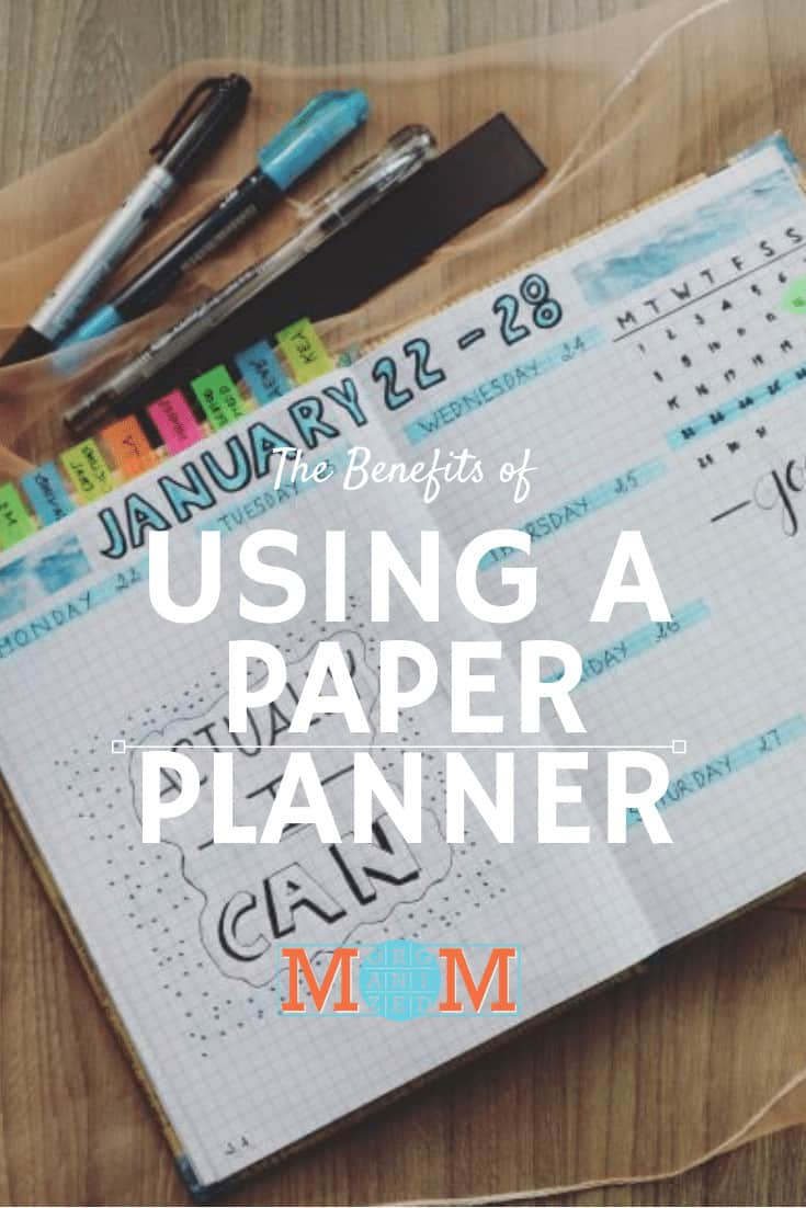 The Benefits of Using a Paper Planner