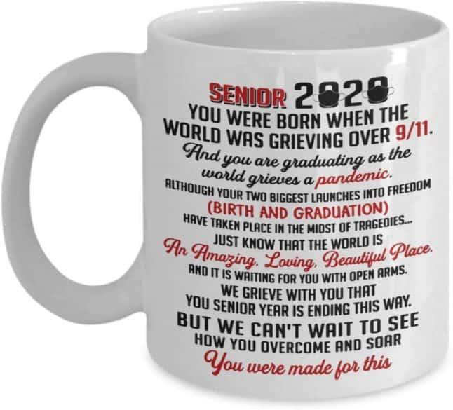 senior 2020 graduation mug