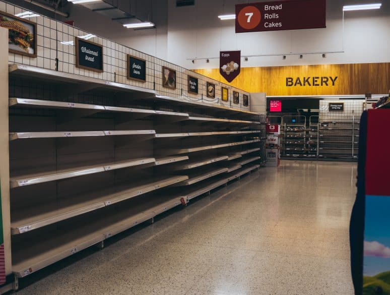 empty store shelves--how to organize your food storage