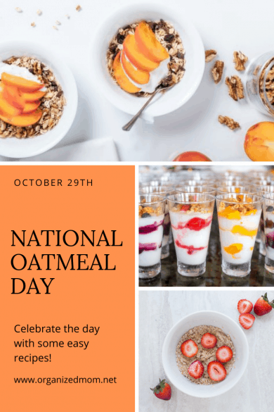 National Oatmeal Day October 29th