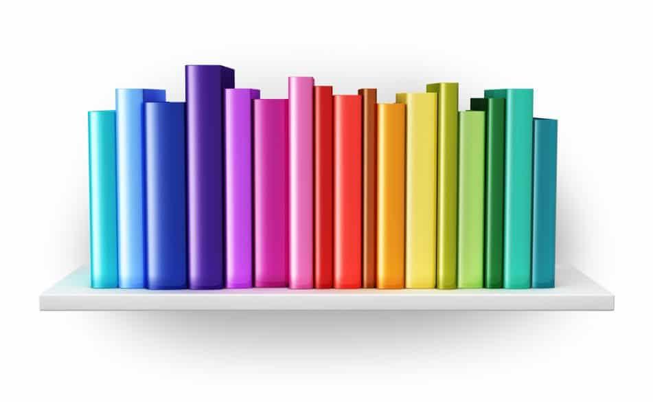 rainbow shelf Organizing Takeaways
