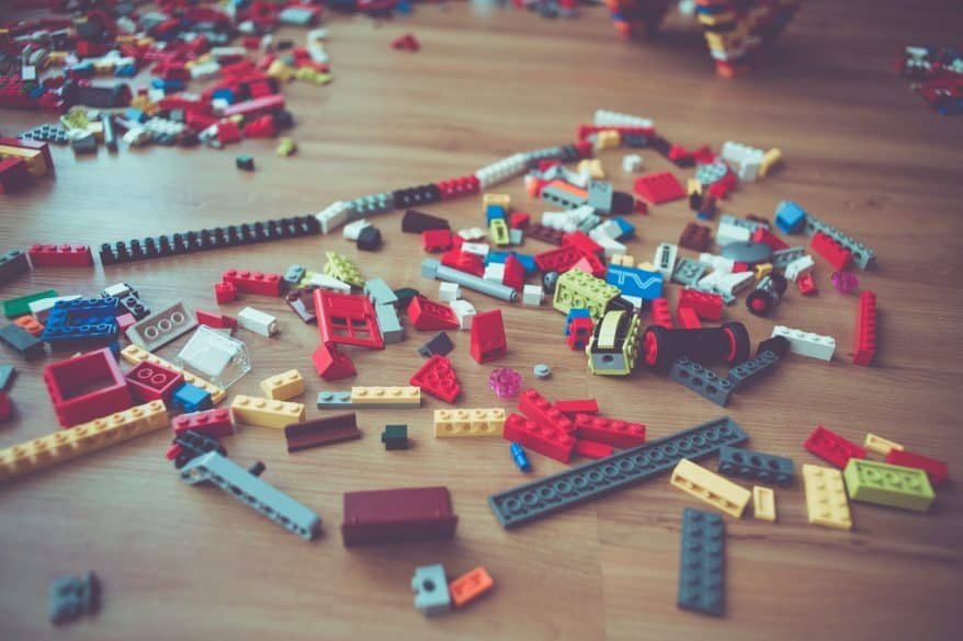 teach your kids about service legos, donate toys