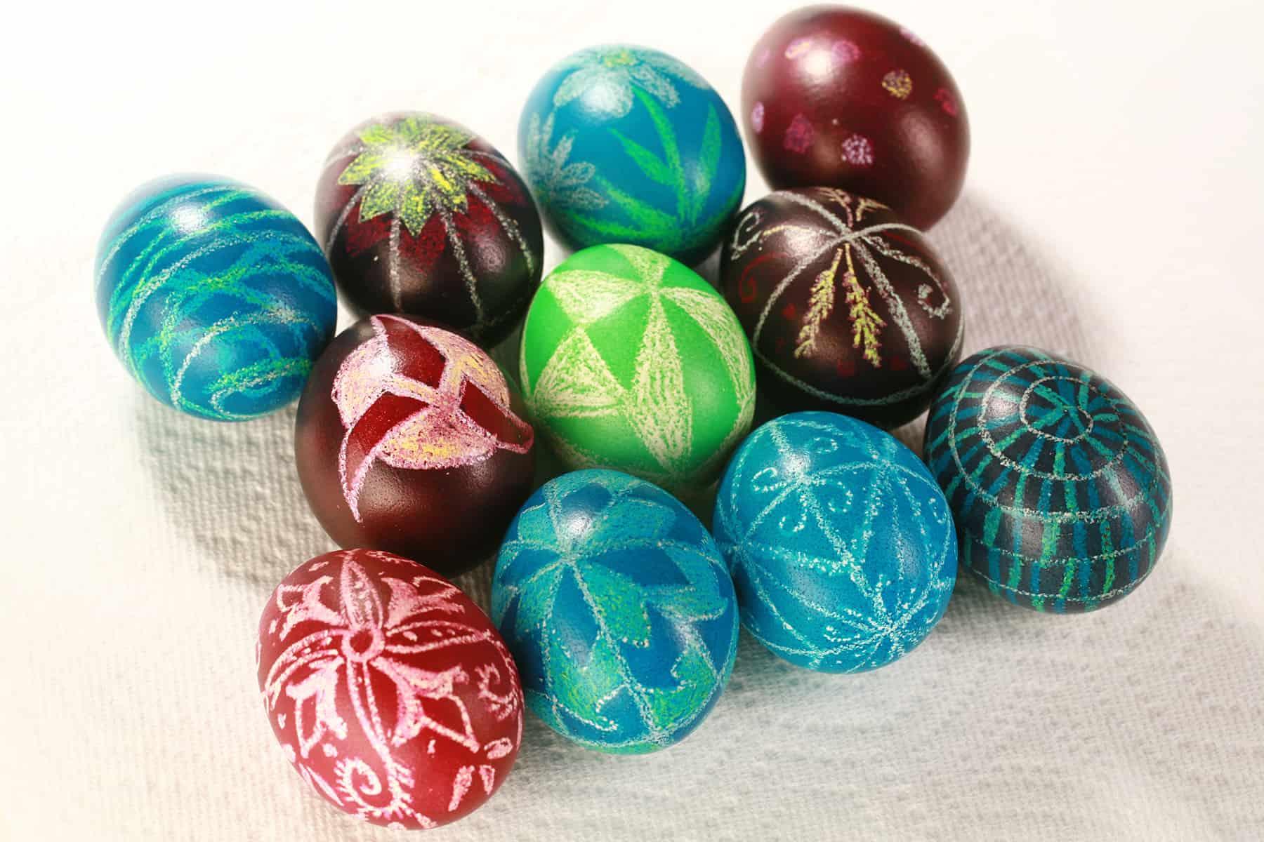 easy pyansky ukranian Easter egg