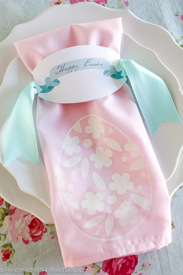 painted napkin easter decoration