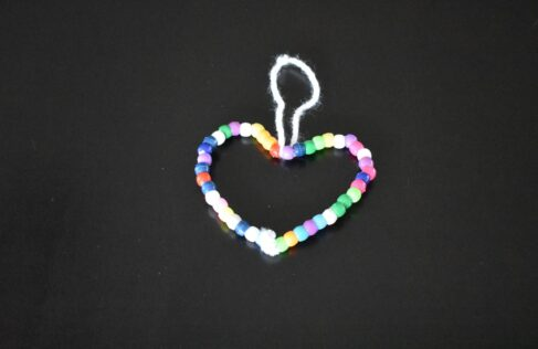 easy valentine's day craft with beads