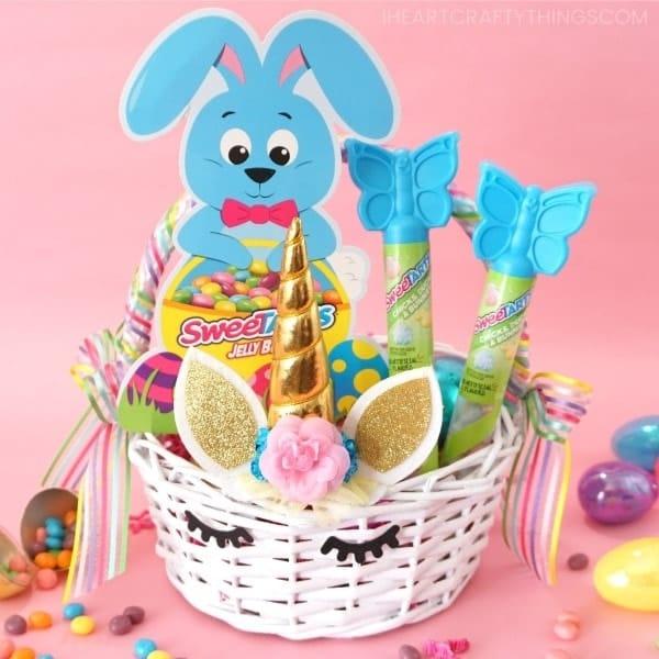 diy unicorn Easter Basket