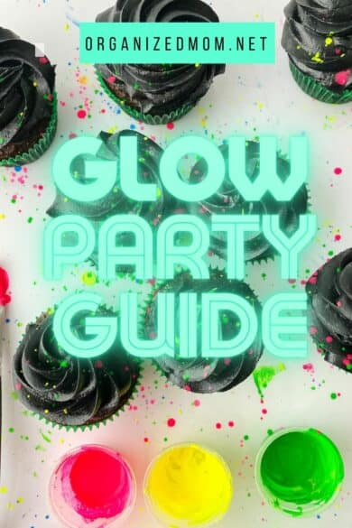 glow party ideas guide cupcakes