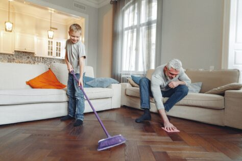 father-son-cleaning Gifts of Time for Father's Day