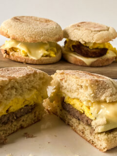 home made egg McMuffin style breakfast sandwiches