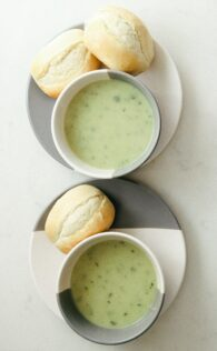 soup with roll; fall meals