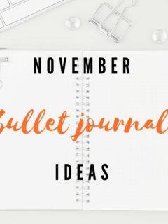 November bullet journal